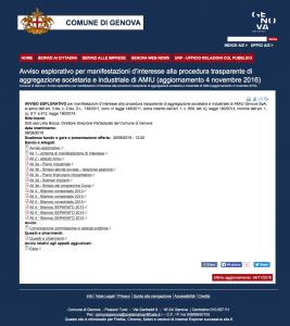 Avviso esplorativo per manifestazioni d'interesse alla procedura trasparente di aggregazione societaria e industriale di AMIU