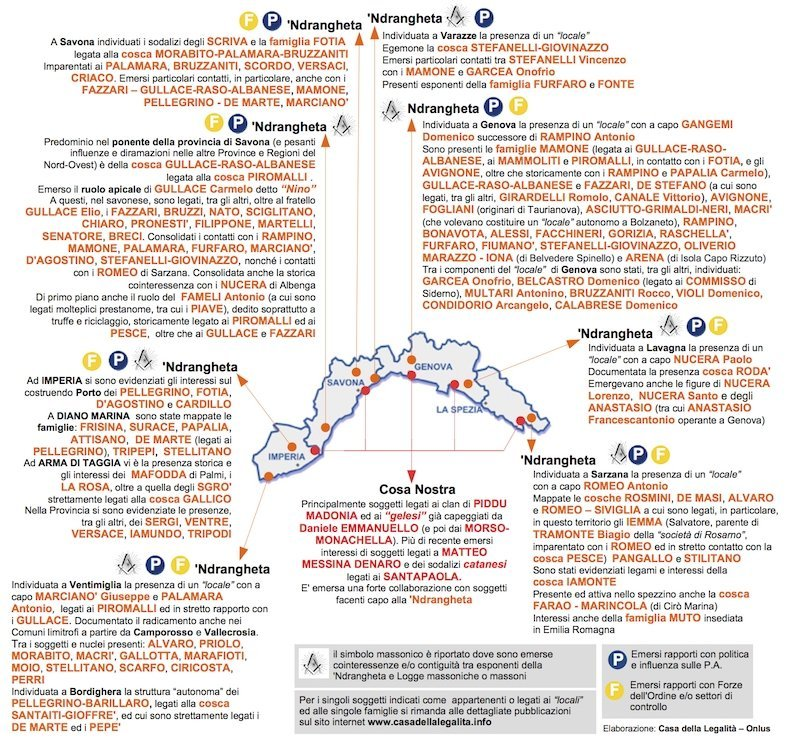 Pare che la liguria ndranghetista fivedabliu for Programma della mappa della casa